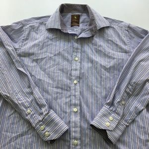 Tailorbyrd Dress Shirt Button Size M Long Sleeve